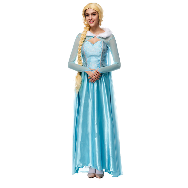 Hot sale hight quality elsa costume adult Halloween christmas queen costumes dress for women