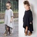 Vestidos De meninas 2016 Outono Vestido Da Menina Do Bebê Roupa Dos Miúdos de algodão irregular hem Crianças Inverno Princesa Crianças Vestidos para Meninas