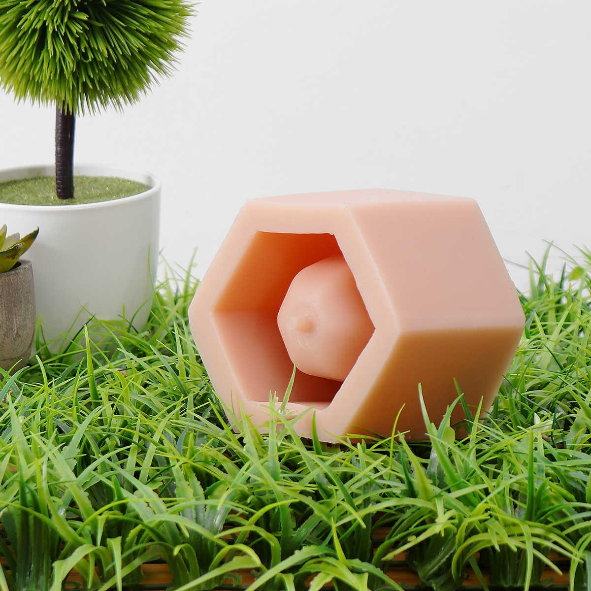 3D шестигранный цементный цветочный горшок кактус цемент силиконовая глина форма DIY глина для поделок резиновая пепельница силиконовая керамическая штукатурка форма для горшка