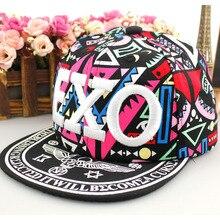 Новинка года; Летние солнцезащитные кепки EXO для маленьких мальчиков и девочек; Детская кепка; дышащие бейсболки с рисунком; Snapback