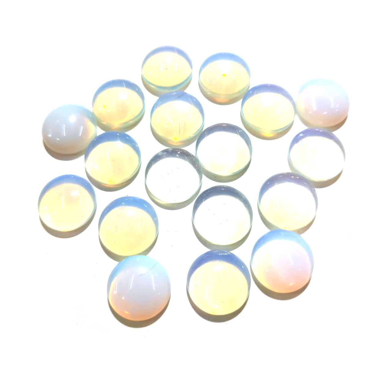 20 PCS Opal Natural Stones Cabochon 6mm 8mm 10mm Round No Hole For Making Jewelry DIY
