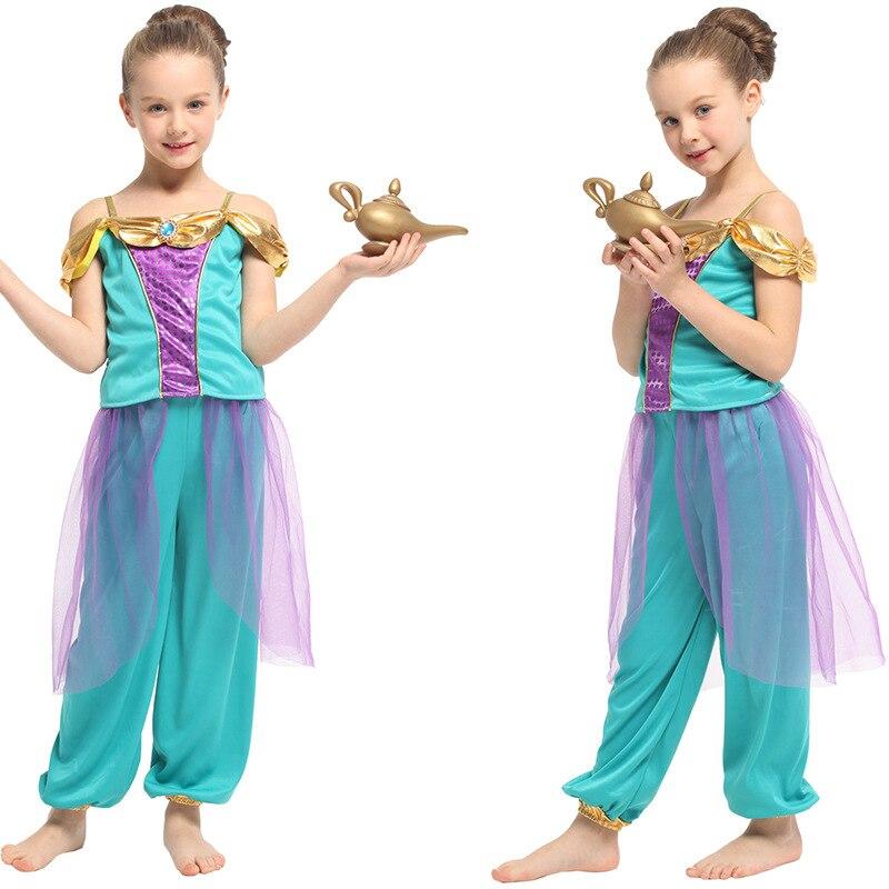 Aladdin's Magic Lamp Sudan Princess Jasmine costumes Christmas Carnival Halloween Masquerade Children Kids Girls Cosplay Clothes