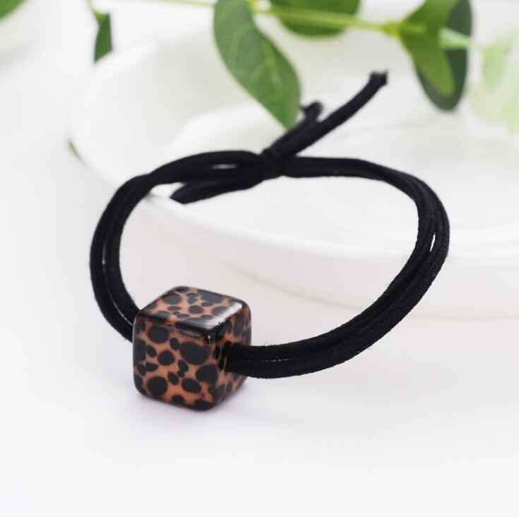 Korea creative leopard hair rope rubber band tied hair elastic set pearl hair ring rope female hair accessories bandeau cheveux