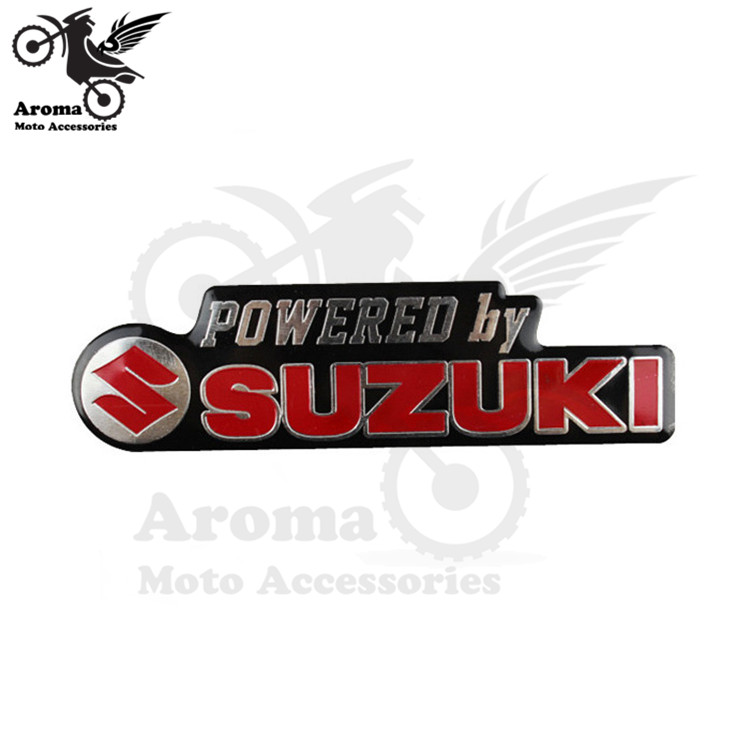 1 PCS Free Shipping Motorcycle Decals For Suzuki Motorbike Stickers Decal Aluminum Universal Yamaha Honda Brand Powered By In From