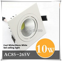 DHL 30PCS Newest 10W COB Led Downlights Cool Pure Warm White Led Ceiling Down Lights Energy