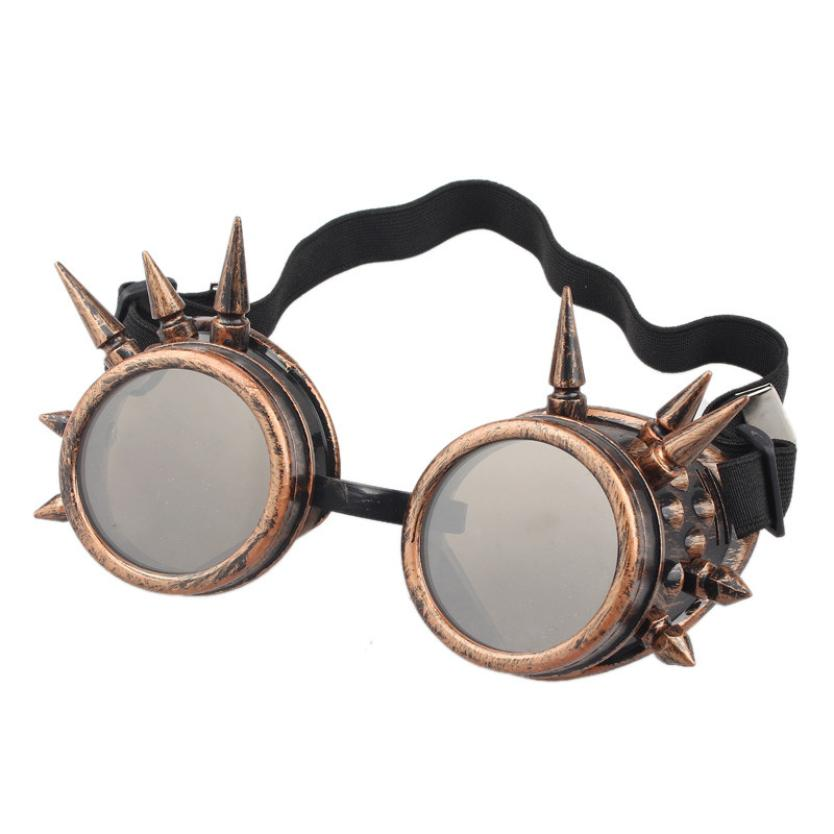 #5 Rivet Steampunk Windproof Mirror Vintage Gothic Lenses Goggles Glasses
