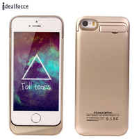 2200mAh 4200mAh External Battery Backup Rechargeable Case With Pop Out Kickstand Holder For IPhone 5 5s