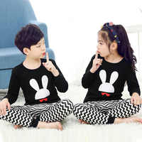 Neue Herbst Cartoon Pyjamas Für Mädchen Jungen kinder Pyjamas Lange-ärmeln Baumwolle 2 stücke Pyjamas Set Baby Kleidung kinder Nachtwäsche