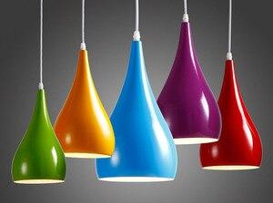 Image 3 - Modern LED kolye lambaları demir Metal aydınlatma armatürleri oturma odası alüminyum kolye ışık