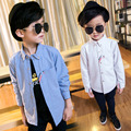 Boys Plus Velvet Shirts Cotton Winter Shirt Brand Casual Children Blouse Spring Teeange Shirt Infant Kids Tops 2-12 Years
