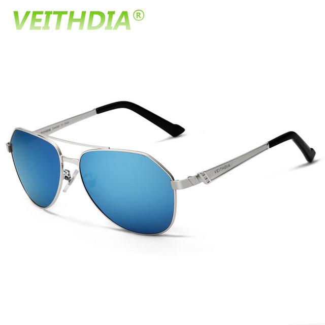 2017 logotipo da marca de alumínio e magnésio veithdia revestimento de lente hd óculos acessórios óculos de sol óculos polarizados óculos de sol para mulheres dos homens