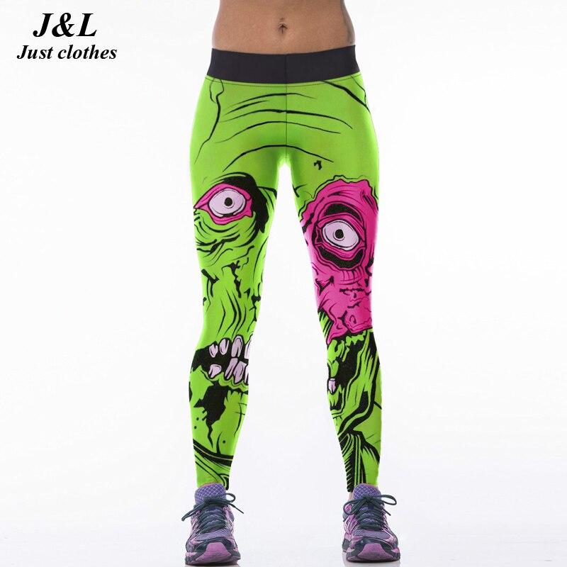 22 Warna Klasik Eropa Amerika Gaya 3D Print Wanita Olahraga Legging - Pakaian Wanita - Foto 4