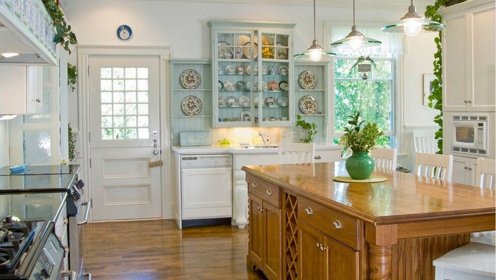 nuevo estilo de la cocina armario mm cuerpo de madera de madera maciza muebles
