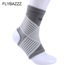 FLYBAZZZ 1pcs Sports Breathable Nylon Ankle  Protector Adjustable Elastic Pressure Support Brace Guard Pads Free Shipping