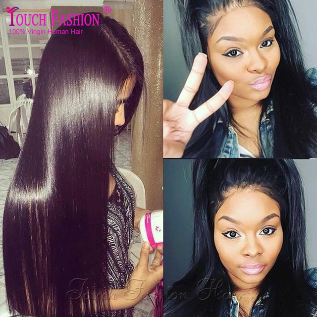 Glueless Full Lace Wigs Human Virgin Hair Wigs with Baby Hair Straight Full Lace Wig for Black Women Brazilian Lacefront Wigs