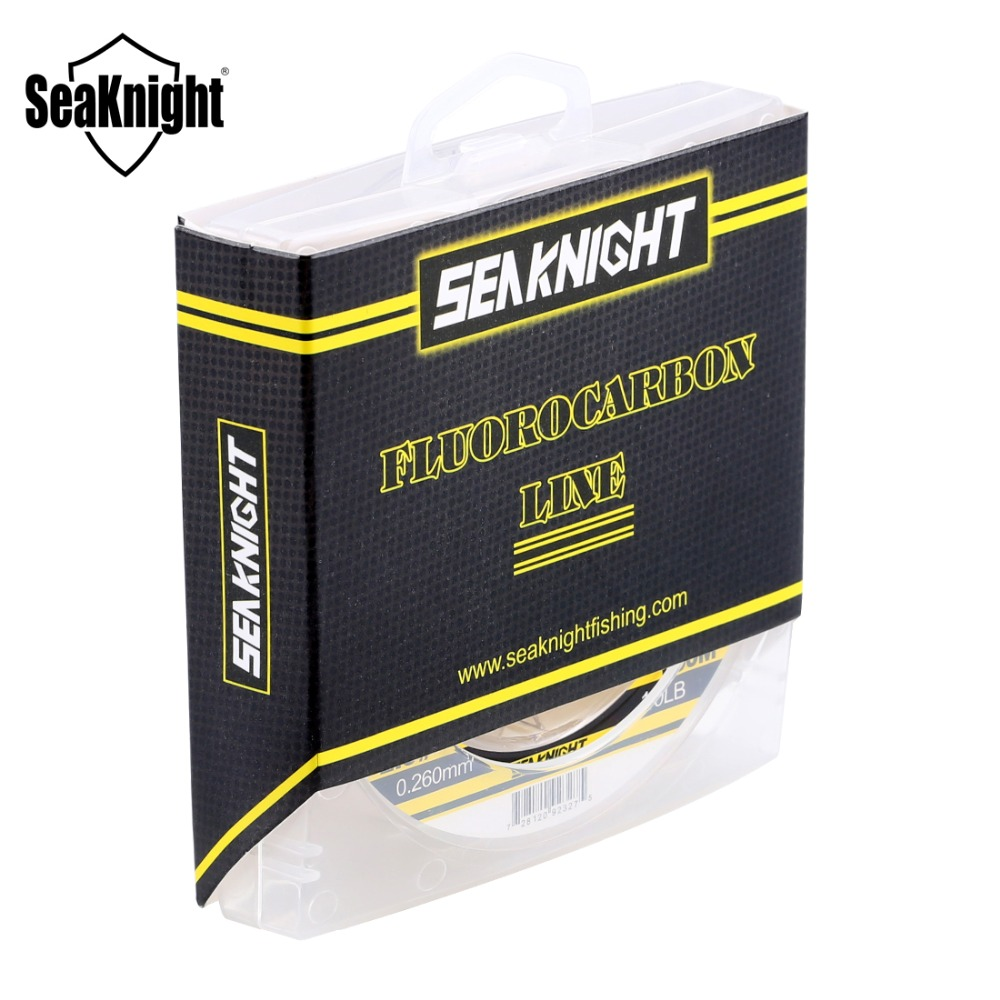 SeaKnight 100M Fluorocarbon Line Carbon Fiber 3-50LB Fishing Line Sink Line Super Strong Nylon Fishing Line Saltwater Fish Wire