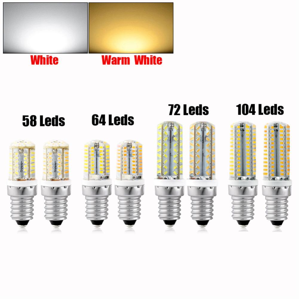 Mini E14 LED Lamp 58 64 72 104 Leds 220V Ultra Bright LED Corn Bulb SMD3014 360 Beam Angle Replace Halogen Chandelier Lights