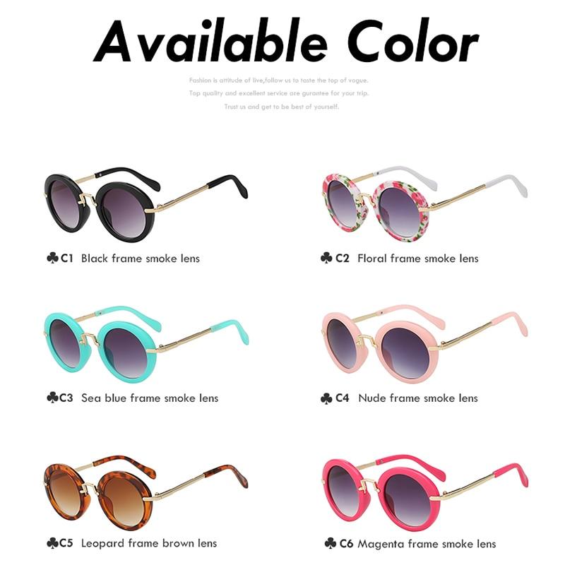 543e08ba3e35f2 XIU lunettes de Soleil Enfants Ronde Nuances Marque Design lunettes de  Soleil Assez Mignon De Mode Lunettes pour Enfants Haute Qualité Lunettes  UV400 dans ...