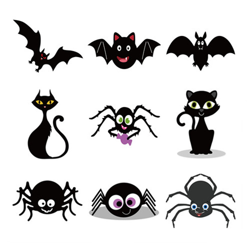 Metal Cutting <font><b>Dies</b></font> <font><b>Halloween</b></font> Bat Spider Cat Stitched DIY Scrapbooking <font><b>Stamps</b></font> Craft Embossing <font><b>Die</b></font> Cut Making Stencil Template image