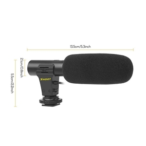 Image 2 - Портативный конденсаторный стереомикрофон Shoot Xt 451, микрофон с разъемом 3,5 мм, крепление «Горячий башмак» для камеры Canon, видеокамеры, смартфона Dv