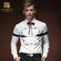 FANZHUAN Featured Brands Clothing Men Shirt Dress Shirt Long Sleeve Slim Fit Camisa Masculina Casual Print Hawaiian Shirts Mens