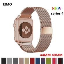 Milanese loop strap For Apple watch band 42mm 38mm 44mm 40mm iwatch 4 3 2 1 Stainless Steel metal Bracelet wrist belt watchband