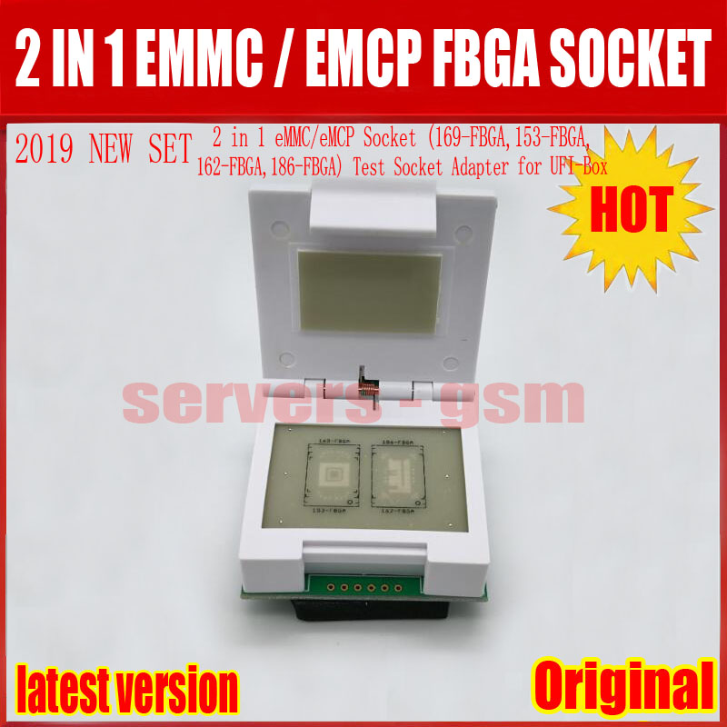 2019 NEW ORIGINAL 2 in 1 eMMC/eMCP Socket (169-FBGA,153-FBGA,162-FBGA,186-FBGA) Test Socket Adapter for UFI-Box2019 NEW ORIGINAL 2 in 1 eMMC/eMCP Socket (169-FBGA,153-FBGA,162-FBGA,186-FBGA) Test Socket Adapter for UFI-Box