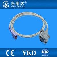 Free Shipping for (OXI TECH) Nellcor adult soft tip spo2 sensor,reusable nellcor probe sensor DB9 Pin