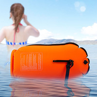 20L Waterproof Nylon Double Airbag Swimming Inflatable Drift Flotation Storage Bags Outdoor Beach Swimming Training Life Buoy