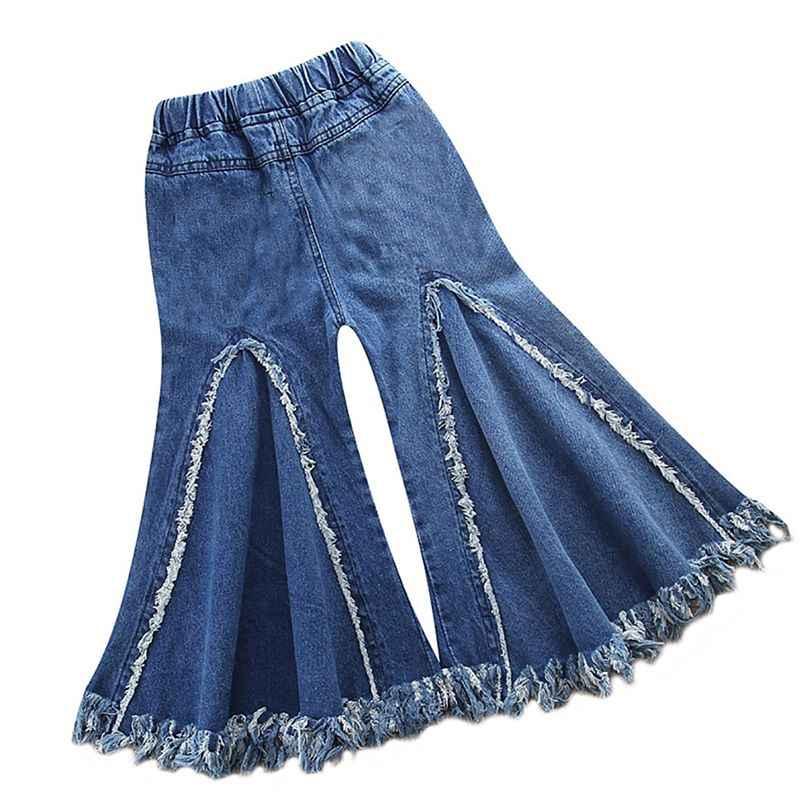 Одежда для маленьких мальчиков и девочек штаны для девочек ковбойские модели, европейский и американский Вентилятор прилива для девочек, колокольчик-кисточка, модные штаны