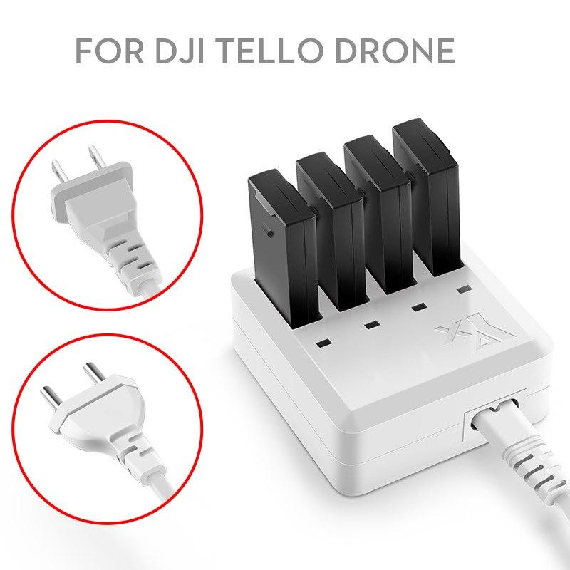 Nouvelle Arrivée 4 dans 1 Tello Batterie Multi Chargeur Intelligent De Charge Hub Pour DJI tello Drone US Plug UE