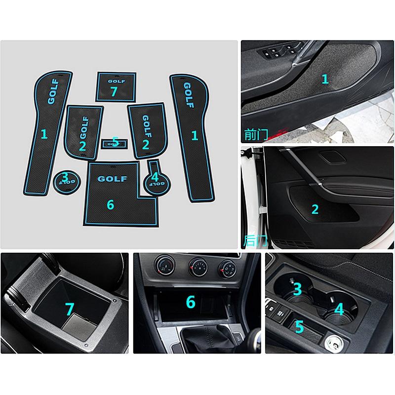 9 unids antideslizante antideslizante taza de goma pegatina puerta - Accesorios de interior de coche - foto 2
