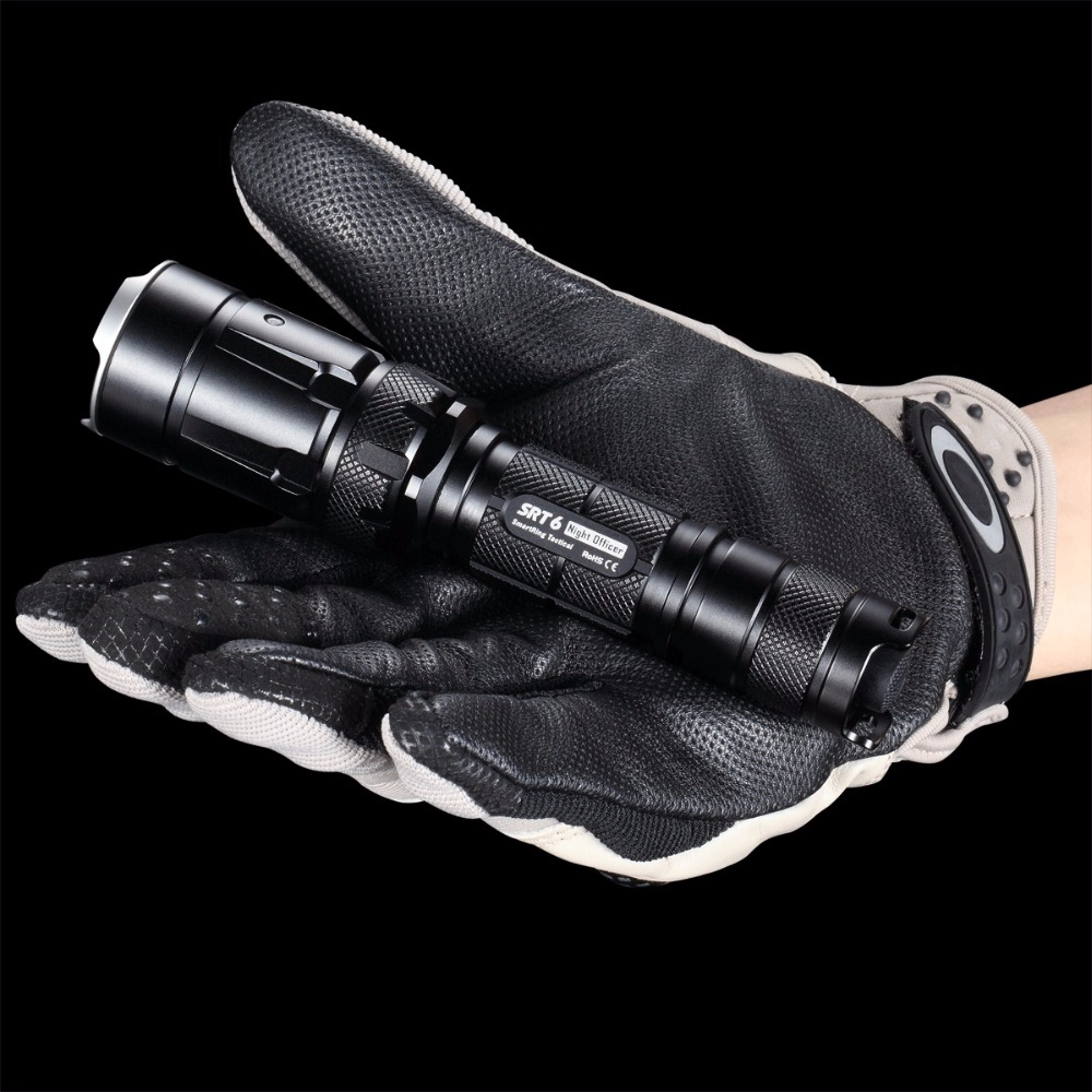 NITECORE SRT6 930Lm XM-L2 T6 tactical LED Flashlight Military outdoor Hunt Search Rescue tactical torch Black Free shipping nitecore srt6 930 lumens cree xm l xm l2 t6 tactical led flashlight black free shipping