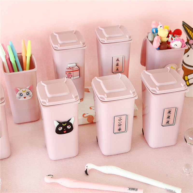 Coloffice Creative Cute Trash Milk Pen Holder Girl Powder Table Storage Children Student Desk Decoration School Office Supplies
