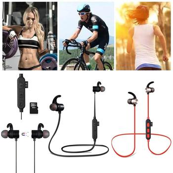 XT5 Sports Bluetooth Headset Stereo Wireless Earphones Up 10m Bluetooth4.2 4.2 Magnetic-function TF Card