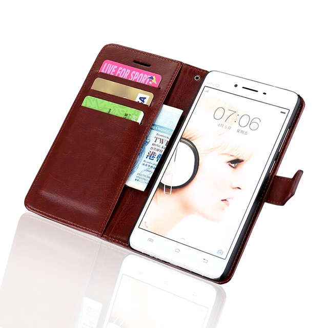 official photos d677b d32a7 US $4.49 10% OFF|ultra thin wallet flip cover For Vivo V3 Max 5.5