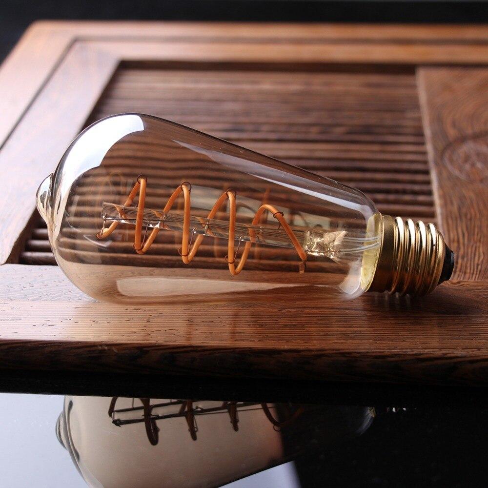 Lâmpadas Led e Tubos st64 bulbo globo, 3 w, Bulb Tipo : St64 Sprial Led Lamp Light