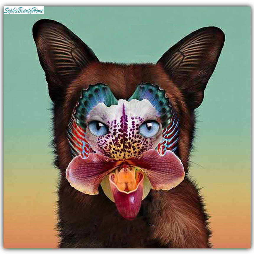 Sophie Beauty Home Floral Animal Mask Cross Stitch