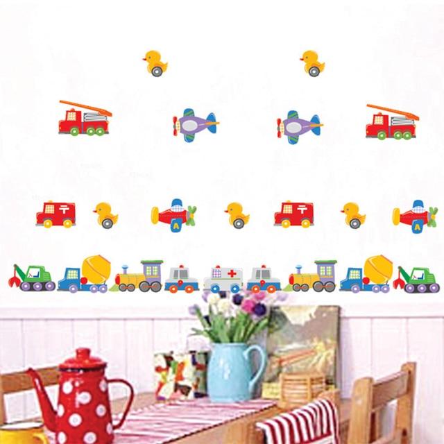 Cartoon Car Bus Vehicle Room Decal Home Kids Child Decor Diy Nursery Decoration Art Mural