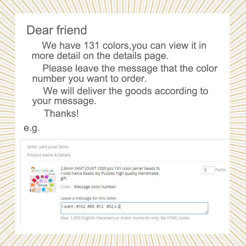 Image 2 - 225colours 2.6mm YANTJOUET 1000pcs Perler Beads Iron Beads for kids Hama Beads Fuse Beads Diy Puzzles Mini Beads quality Gift-in Puzzles from Toys & Hobbies