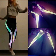 Domidofa Woman Bodybuilding Yoga jogging Polyester Pants Laser Printing Motion Hit Underpant gym leggings sport
