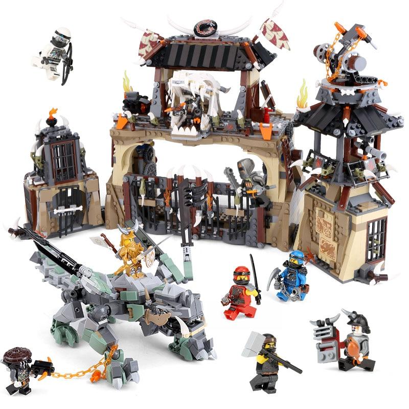 Lepin 06082 new Toys 1859Pcs Ninjago Series The Legoinglys 70655 Dragon Pit Set Building Blocks Bricks Kids Toys Christmas Gifts