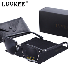 LVVKEE 2018 Hot Half Frame Polarized Sunglasses Men/Women Top Quality Classic Sun Glasses Drive Shades lunette de soleil femme