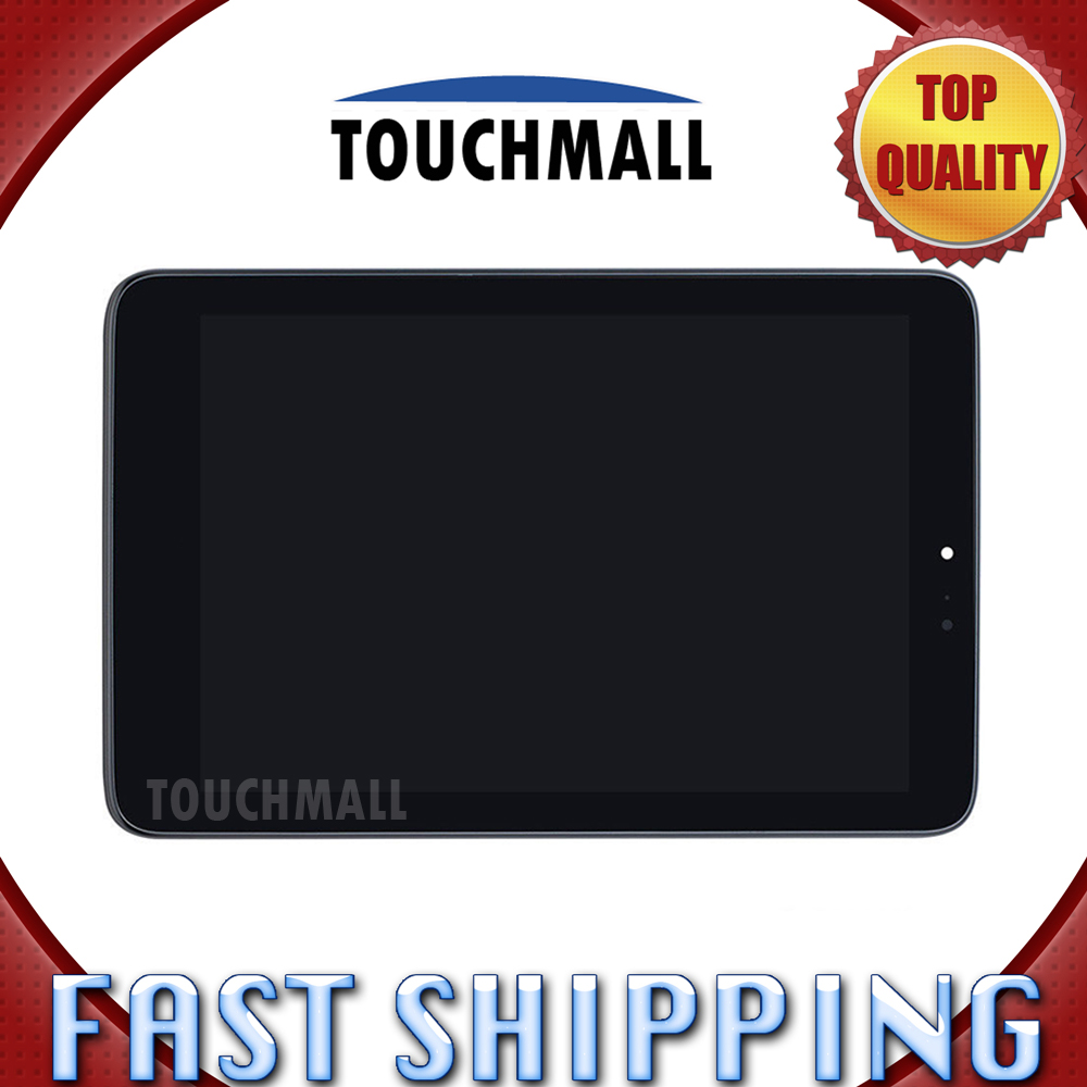For Lenovo Miix 2 8 Replacement LCD Display Touch Screen with Frame Assembly 8-inch Black For Tablet Free Shipping lcd screen display touch panel digitizer with frame for htc one m9 black or silver or gold free shipping