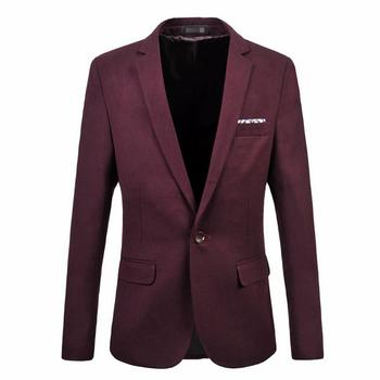 New Sale Men's Suit Jacket New Trend Of Formal Occasions A For Grain Of Buckle Blazer High Quality Custom Leisure Business