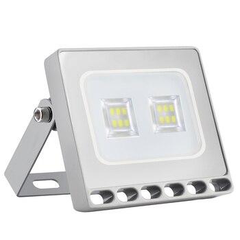 LAIDEYI 10Pcs 10W 220V Ultra Thin LED Floodlight Waterproof IP65 900LM LED Spotlight LED Outdoor Street Wall Garden Lighting
