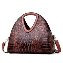Новая женская сумочка из кожи аллигатора, брендовые роскошные кожаные женские сумки на плечо Half Moon, дизайнерские женские сумки для рук