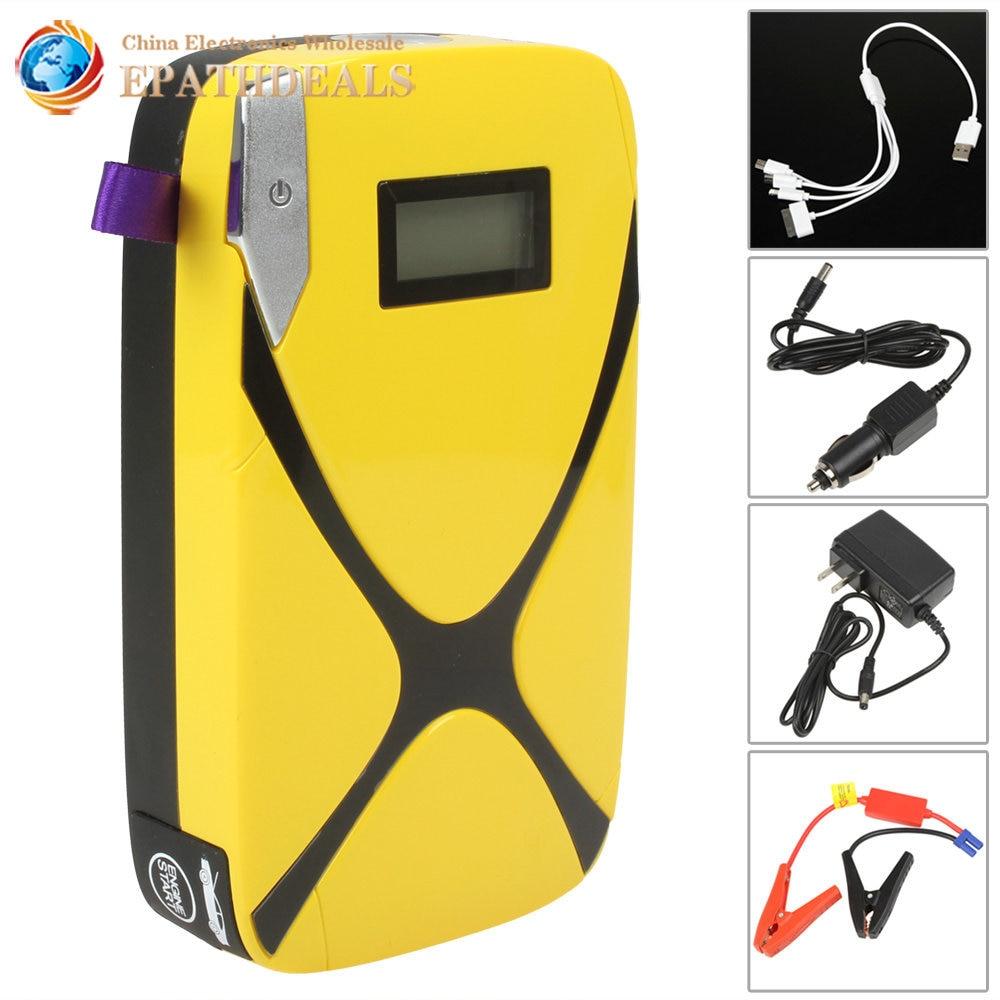 Portable Mini Pocket Car Battery Jump Starter 8000mAh Multi-Function Auto Car Power Bank Pack for Phone / Laptop