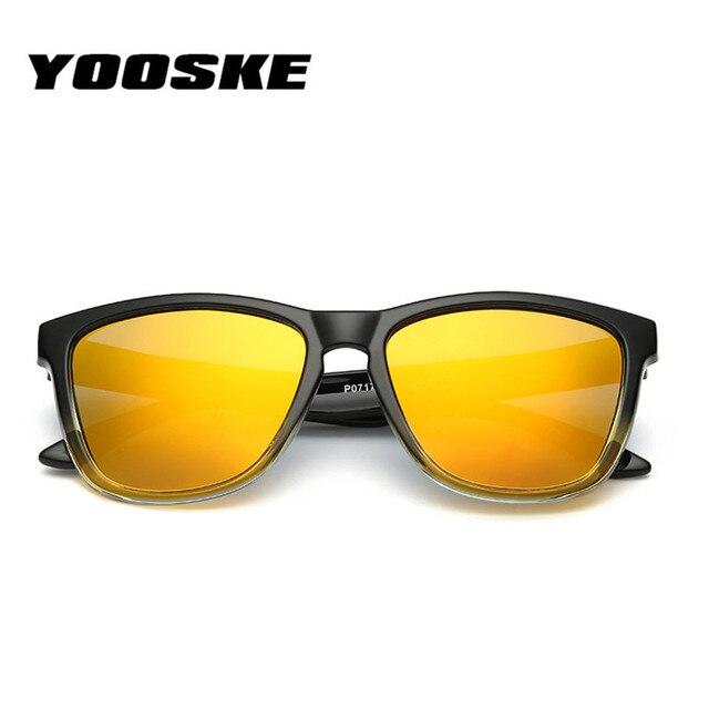 8d77e42cbb0df YOOSKE Homens Polarizados Óculos De Sol Das Mulheres de Grandes Dimensões  Do Vintage Quadrado Masculino Óculos