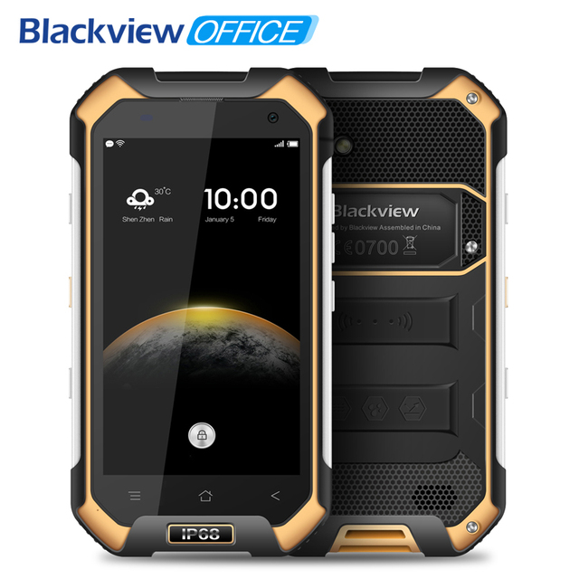 Blackview BV6000 4G Mobile phone 4.7 inch HD MTK6755 Octa Core Android 6.0 3GB RAM 32GB ROM 13MP Cam Waterproof IP68 Smartphone